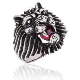 gumus aslan kafasi erkek yuzuk aslan motifli yzkler gumush 33222 40 B