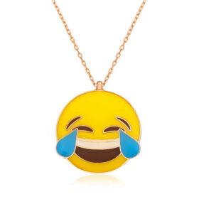 gumus kahkaha atan emoji bayan kolye tasz kolyeler gumush 32185 39 B
